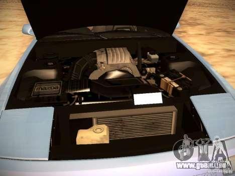 Mazda RX-7 FC3S für GTA San Andreas obere Ansicht
