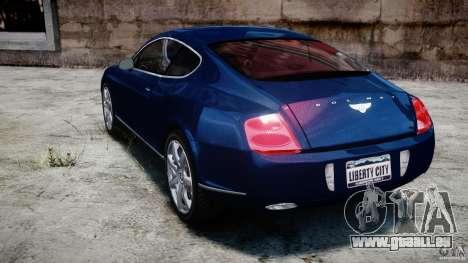 Bentley Continental GT v2.0 pour GTA 4 Vue arrière de la gauche