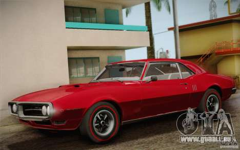 Pontiac Firebird 400 (2337) 1968 pour GTA San Andreas salon