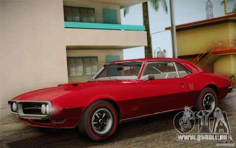 Pontiac Firebird 400 (2337) 1968 pour GTA San Andreas salon