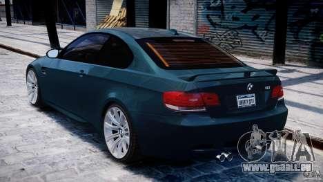 BMW M3 E92 stock pour GTA 4 est un droit