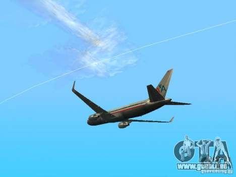 Boeing 767-300 American Airlines für GTA San Andreas rechten Ansicht