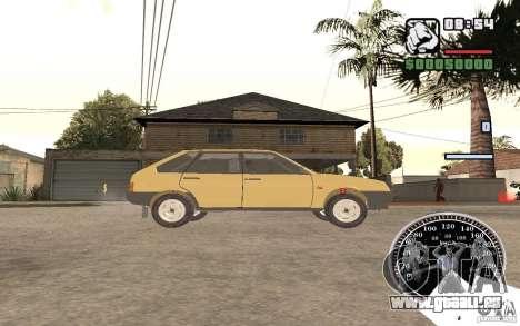 VAZ 21093i pour GTA San Andreas sur la vue arrière gauche
