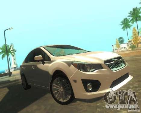 Subaru Impreza Sedan 2012 pour GTA San Andreas laissé vue