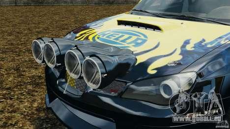 Subaru Impreza WRX STI N12 pour GTA 4 vue de dessus