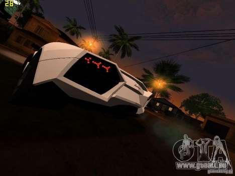 Lamborghini Reventon Roadster pour GTA San Andreas sur la vue arrière gauche