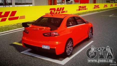 Mitsubishi Lancer Evo X 2011 pour GTA 4 est un côté