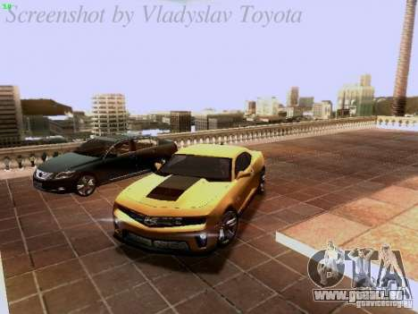 Chevrolet Camaro ZL1 2012 für GTA San Andreas Unteransicht