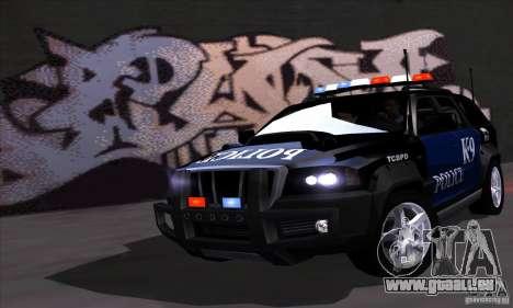 NFS Undercover Police SUV für GTA San Andreas
