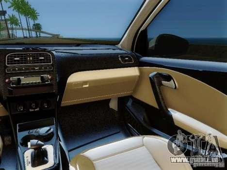 Volkswagen Polo 6R TSI Edit pour GTA San Andreas vue arrière