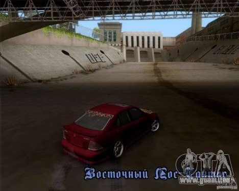 Lexus IS300 Hella Flush pour GTA San Andreas vue arrière