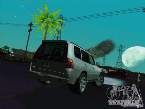 Mitsubishi Montero pour GTA San Andreas sur la vue arrière gauche
