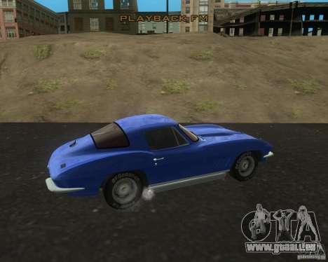 Chevrolet Corvette 427 pour GTA San Andreas laissé vue
