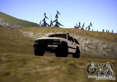 Chevrolet Suburban für GTA San Andreas zurück linke Ansicht