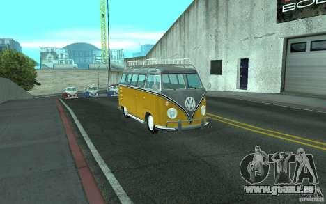 Volkswagen Transporter T1 SAMBAQ CAMPERVAN pour GTA San Andreas vue de droite