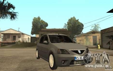 Dacia Logan Prestige 1.6 16v pour GTA San Andreas vue arrière