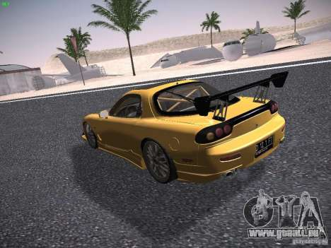 Mazda RX-7 FD3S C-West Custom für GTA San Andreas zurück linke Ansicht