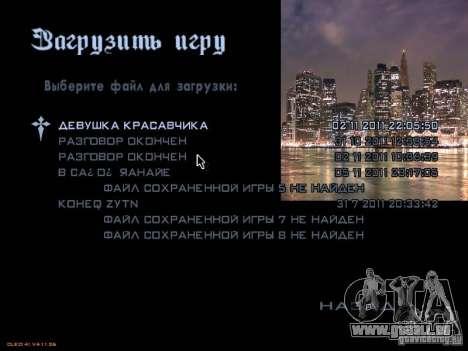 Nouveau menu dans le style de New York pour GTA San Andreas septième écran