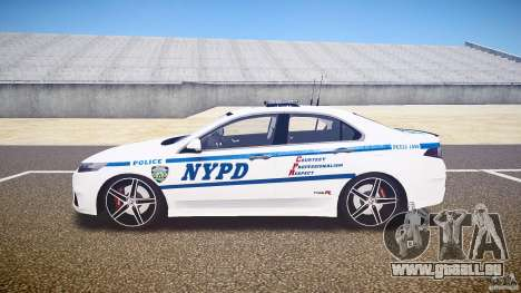 Honda Accord Type R NYPD (City Patrol 1090) ELS für GTA 4 linke Ansicht
