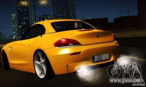 BMW Z4 Stock 2010 pour GTA San Andreas vue intérieure