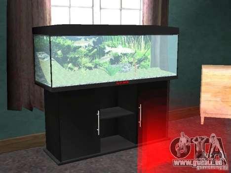 Aquarium pour GTA San Andreas deuxième écran