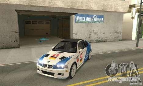 BMW M3 Tunable pour GTA San Andreas vue de dessus