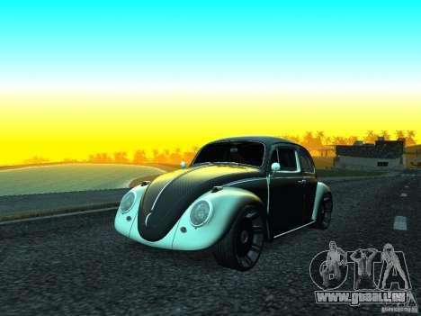 Volkswagen Fusca 1966 Tuning für GTA San Andreas zurück linke Ansicht