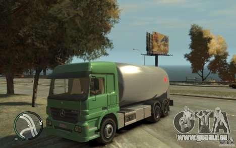 Mercedes Benz Actros Gas Tanker pour GTA 4 est une vue de l'intérieur