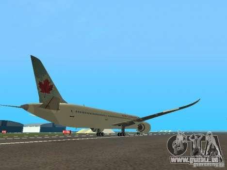 Boeing 787 Dreamliner Air Canada für GTA San Andreas rechten Ansicht