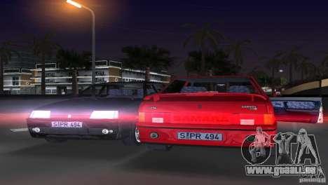 VAZ 21099 DeLuxe pour GTA Vice City sur la vue arrière gauche