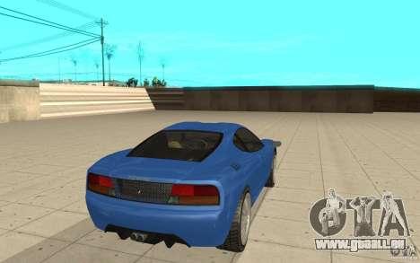 Turismo de GTA 4 pour GTA San Andreas sur la vue arrière gauche