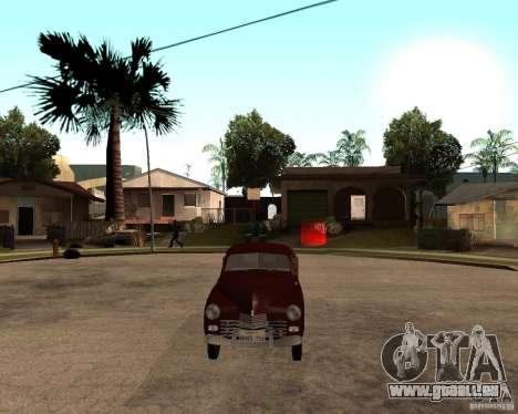 Gaz M-20 Pobeda PickUp pour GTA San Andreas vue de droite