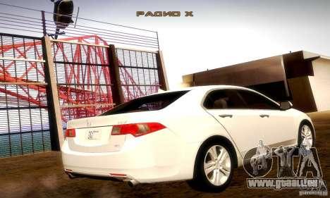 Acura TSX V6 pour GTA San Andreas sur la vue arrière gauche