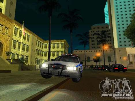 Ford Crown Victoria 2009 New York Police für GTA San Andreas obere Ansicht