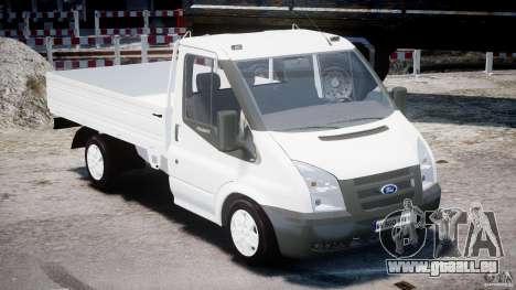 Ford Transit Pickup 2008 pour GTA 4 est une vue de l'intérieur