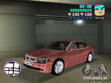 BMW 760 Li pour une vue GTA Vice City de la gauche