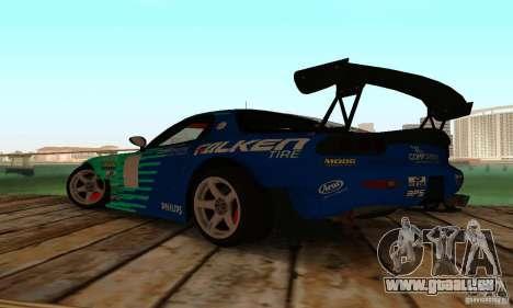 Mazda RX7 Falken edition pour GTA San Andreas sur la vue arrière gauche