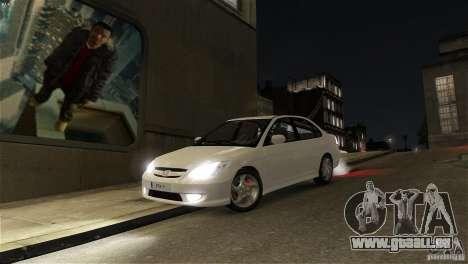 Honda Civic V-Tec pour GTA 4 Vue arrière