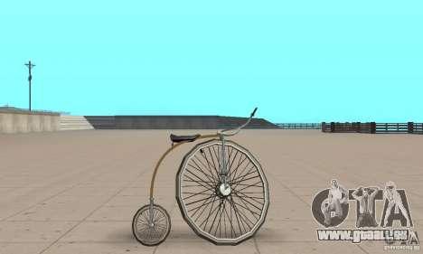 Penny-Farthing Ordinary Bicycle für GTA San Andreas zurück linke Ansicht