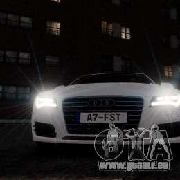 Audi A7 Sportback für GTA 4 obere Ansicht