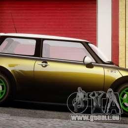 Mini Cooper S 2003 v1.2 pour GTA 4 est une vue de l'intérieur