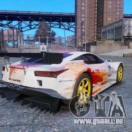 Lexus LFA SH pour GTA 4 est une gauche