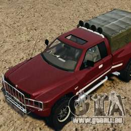 Dodge Ram 2500 Army 1994 v1.1 pour GTA 4 Salon