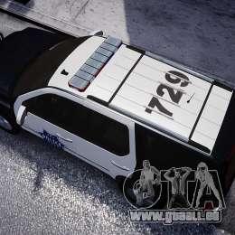 Cadillac Escalade Police V2.0 Final pour GTA 4 Vue arrière