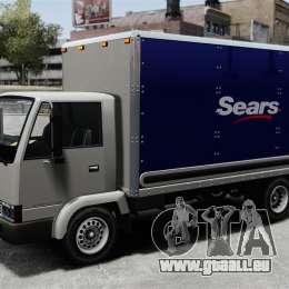 Nouvelles publicités pour le camion, Mule pour GTA 4 Vue arrière de la gauche