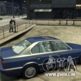 BMW 535i (E34) pour GTA 4 est un droit