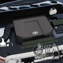 Toyota FJ Cruiser pour GTA 4 est une vue de l'intérieur