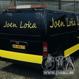 Ford Transit Joen Loka [ELS] pour GTA 4 Vue arrière de la gauche