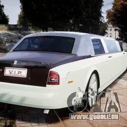 Rolls Royce Phantom Sapphire Limousine Disco für GTA 4 hinten links Ansicht