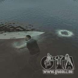Surfbrett für GTA 4 hinten links Ansicht